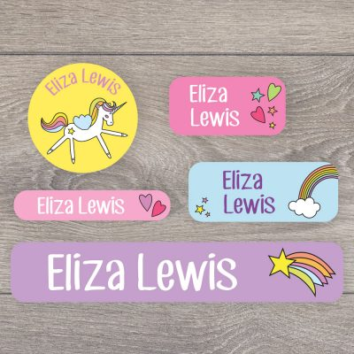 Unicorn name labels (Option 1) | Mixed name labels | Stickerscape | UK