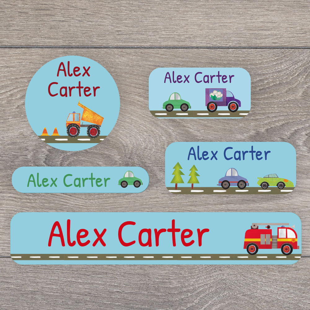 Transport name labels mixed pack