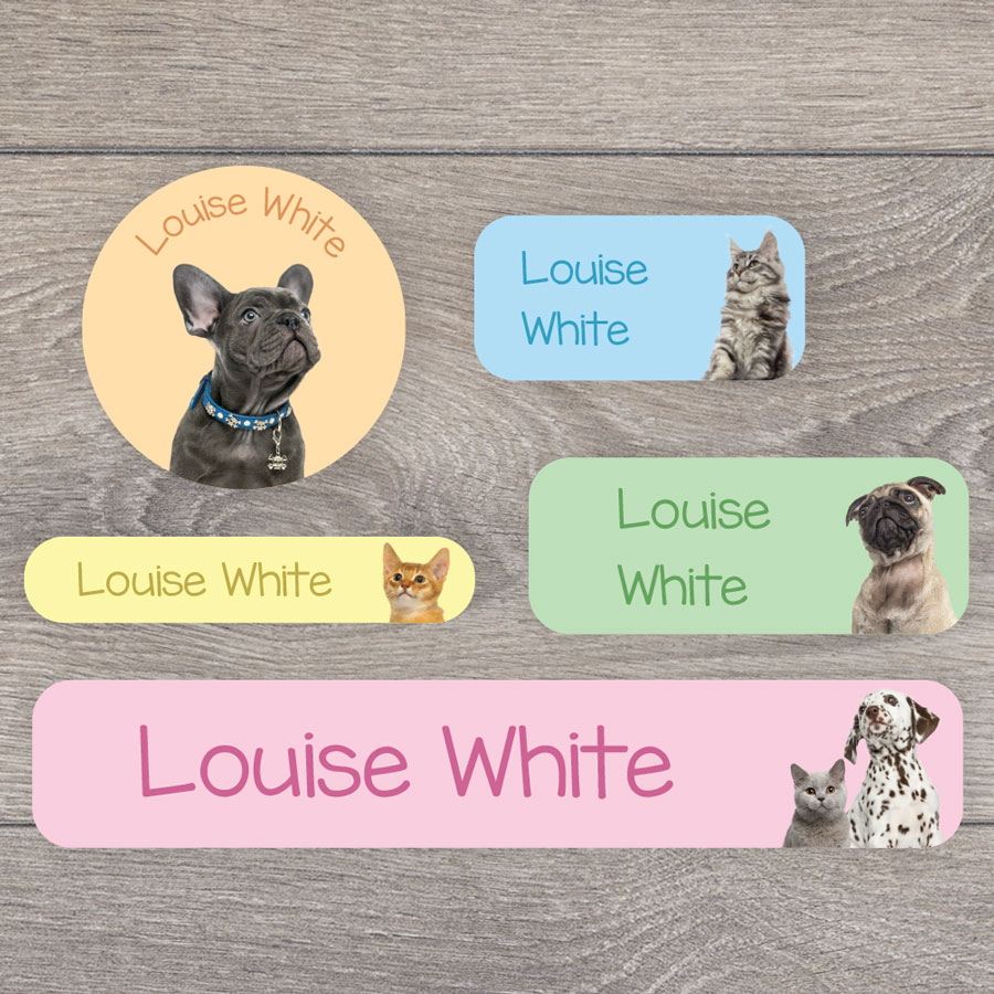 Puppies and kittens name labels perfect for labelling your childs lunchbox, bottles, clothes ready for nursery or school