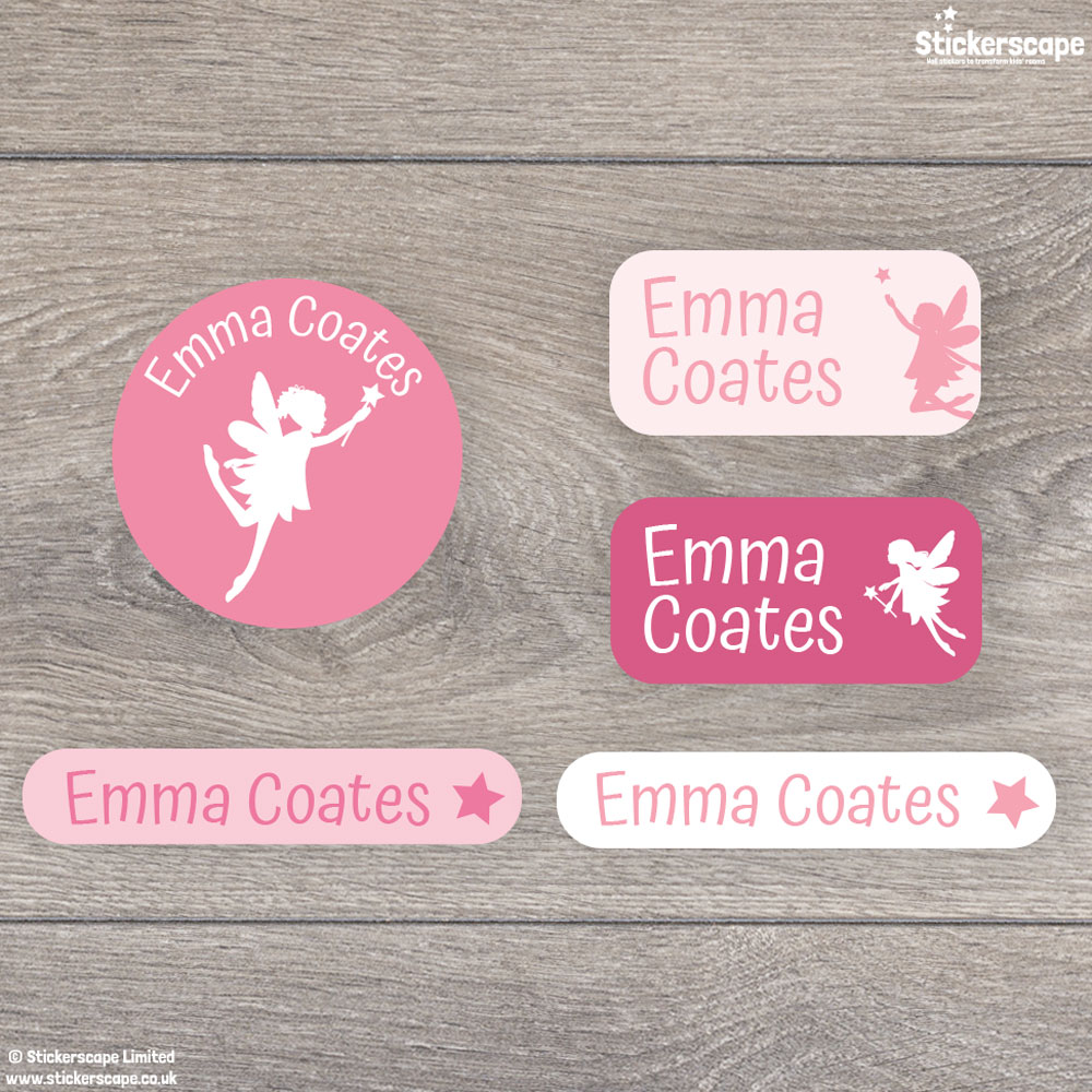 Fairy Iron On Name Labels