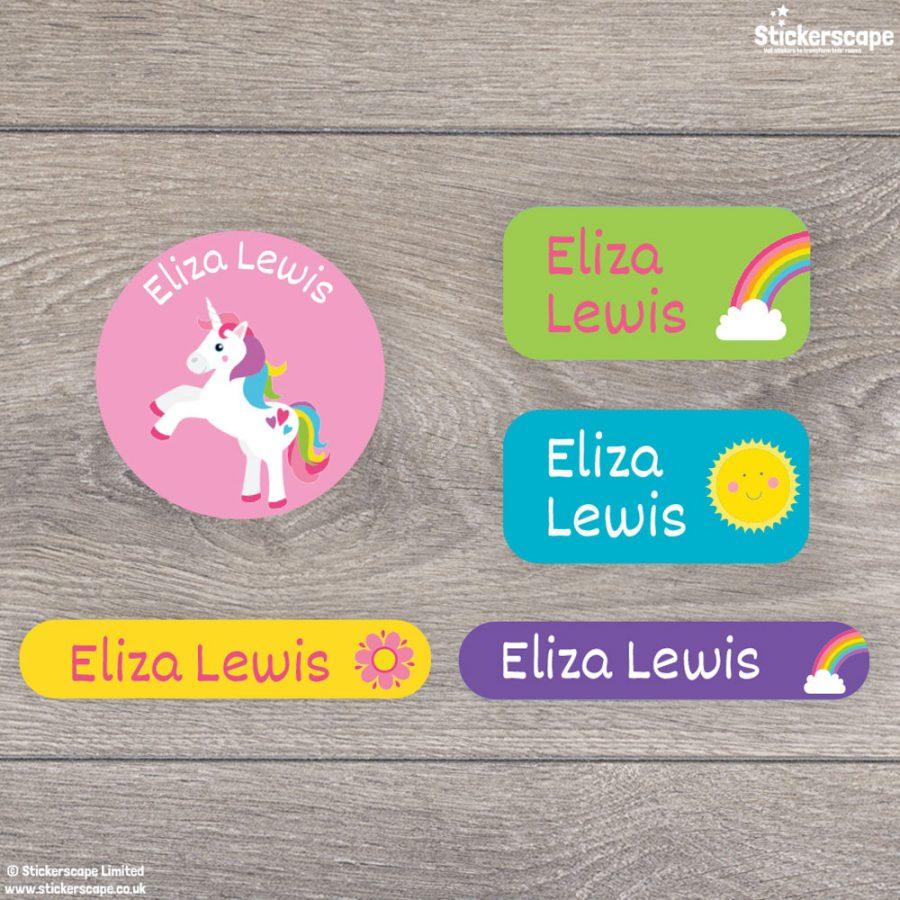 Unicorn iron on name labels (Option 2)