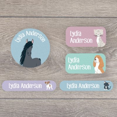 Pets iron on name labels perfect for labelling your child's clothes or uniform for school or nursery