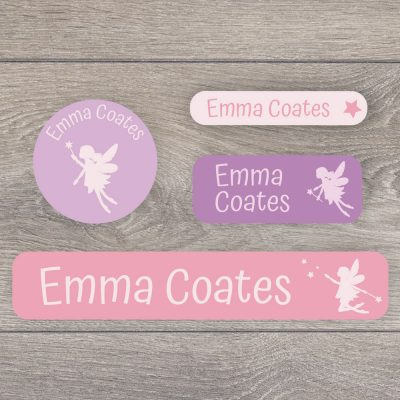 Fairy stick on name labels