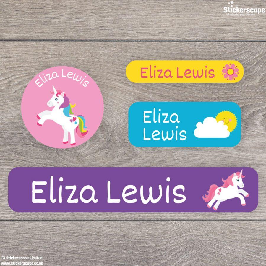 Unicorn stick on name labels (Option 2)