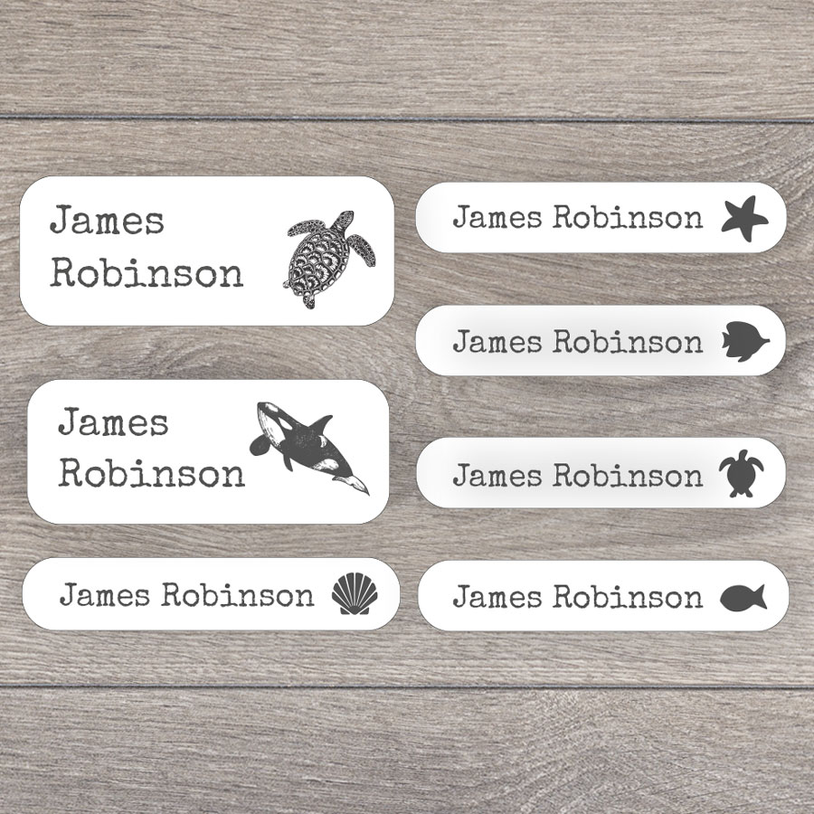 Sea creatures name labels perfect for labelling your childs lunchbox, bottles, clothes ready for nursery or school