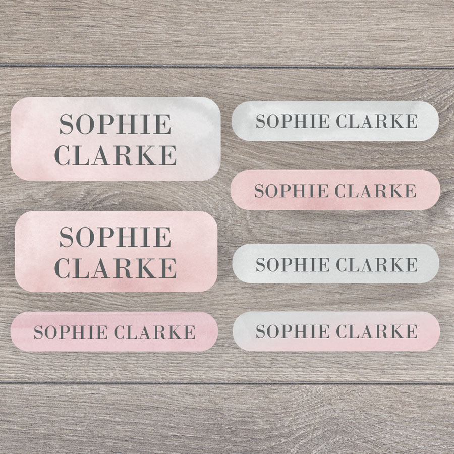 Watercolour name labels perfect for labelling your childs lunchbox, bottles, clothes ready for nursery or school