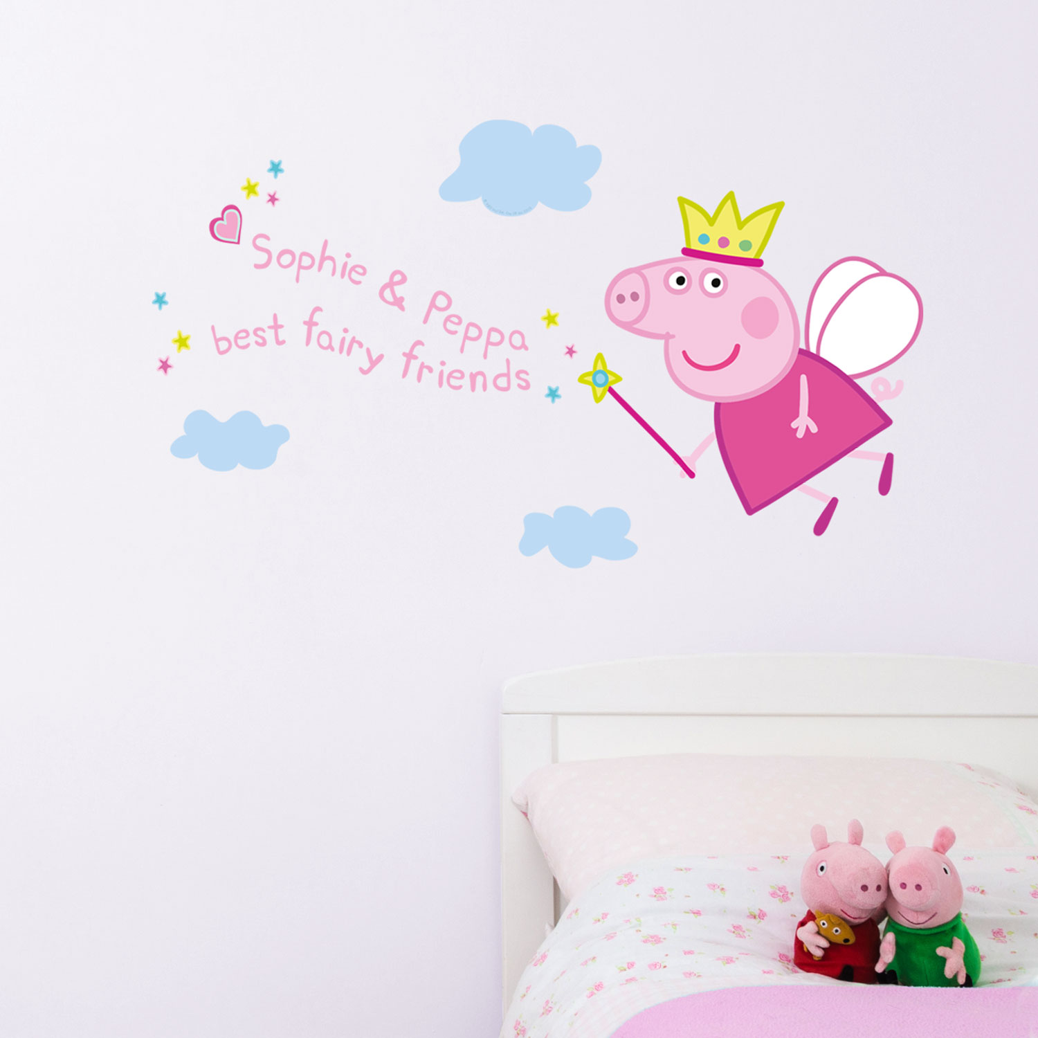 Personalised Fairy Peppa Pig wall sticker (Regular size) | Peppa Pig wall stickers | Stickerscape | UK