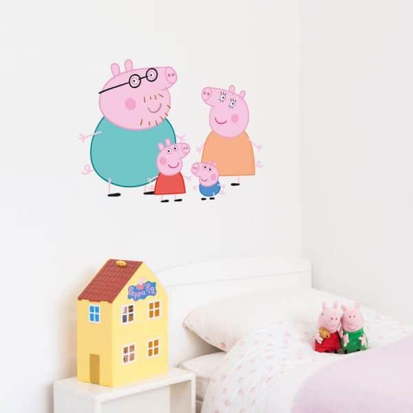 Peppa Pig family wall sticker | Peppa Pig wall stickers | Stickerscape | UK