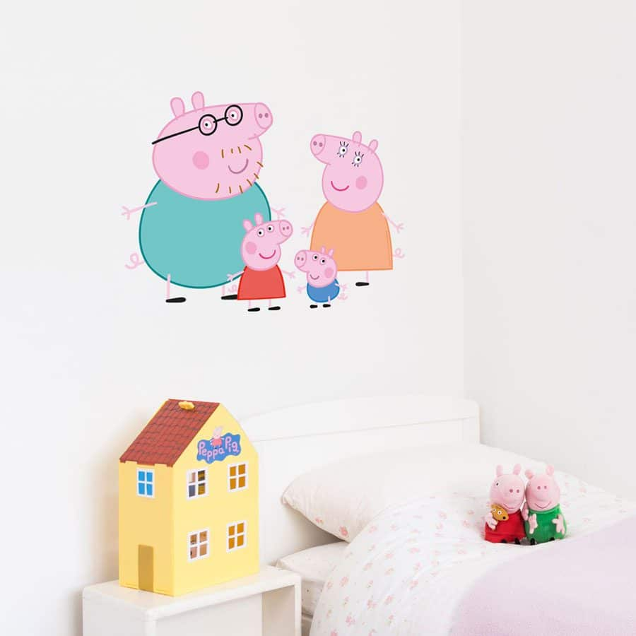 Peppa Pig family wall sticker | Peppa Pig wall stickers | Stickerscape | UK