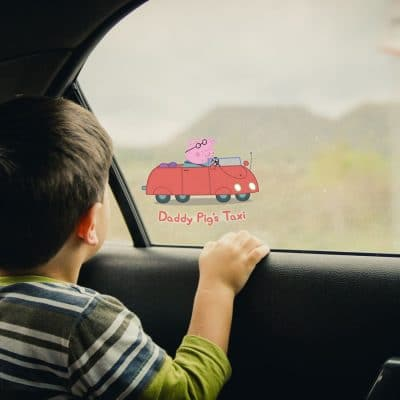 Peppa Pig car window sticker (Option 2 - Standard) perfect for adding to a car window with a Peppa theme