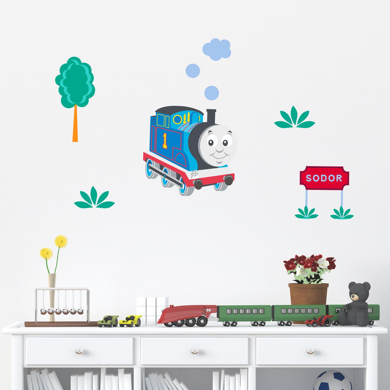 Thomas & Friends Sodor sign scene wall stickers