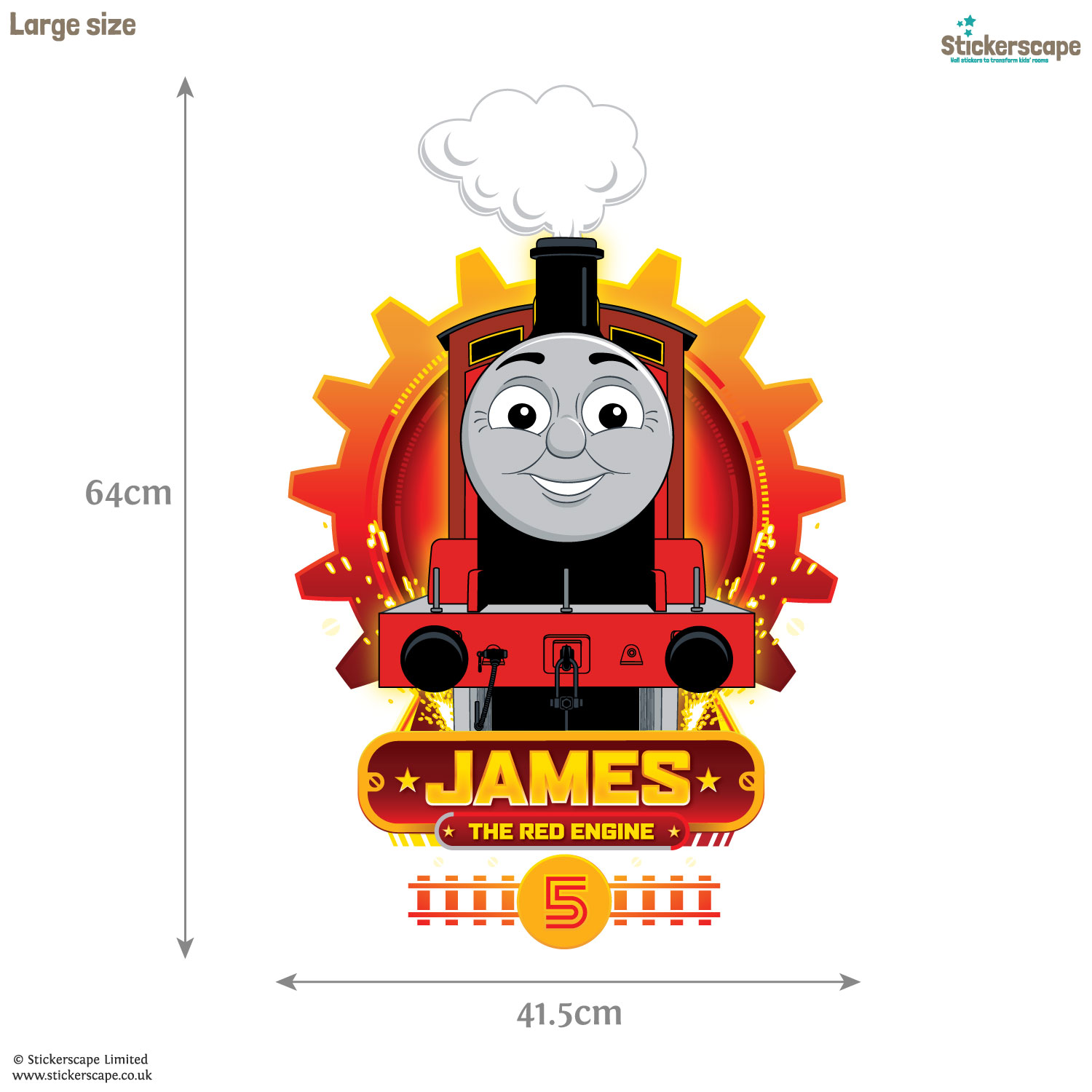 thomas cogs wall sticker stickerscape uk thomas and friends growth chart wall sticker outlet