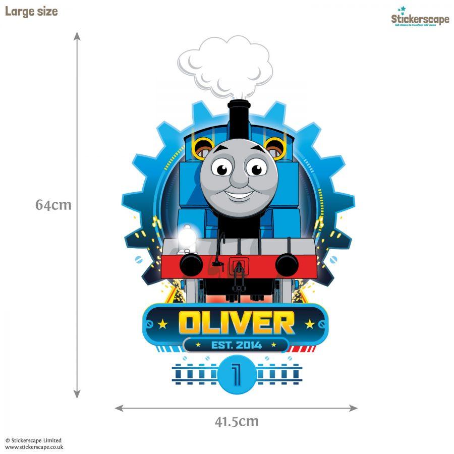Personalised Thomas Cog wall sticker (Large size) | Thomas the tank engine wall stickers | Stickerscape | UK