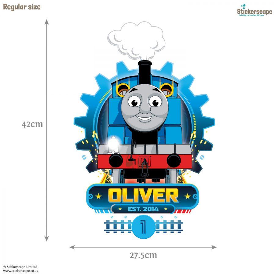 Personalised Thomas Cog wall sticker (Regular size) | Thomas the tank engine wall stickers | Stickerscape | UK