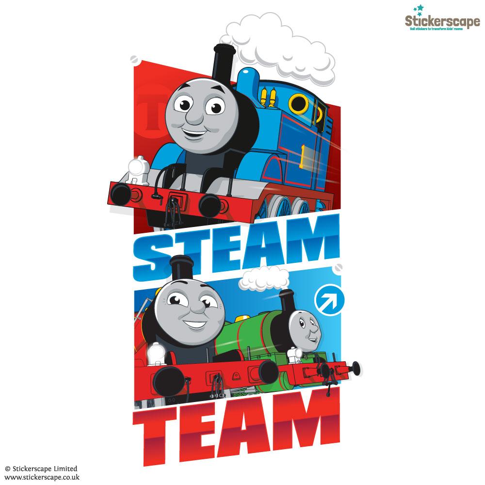 Steam Team Wall Sticker White Background