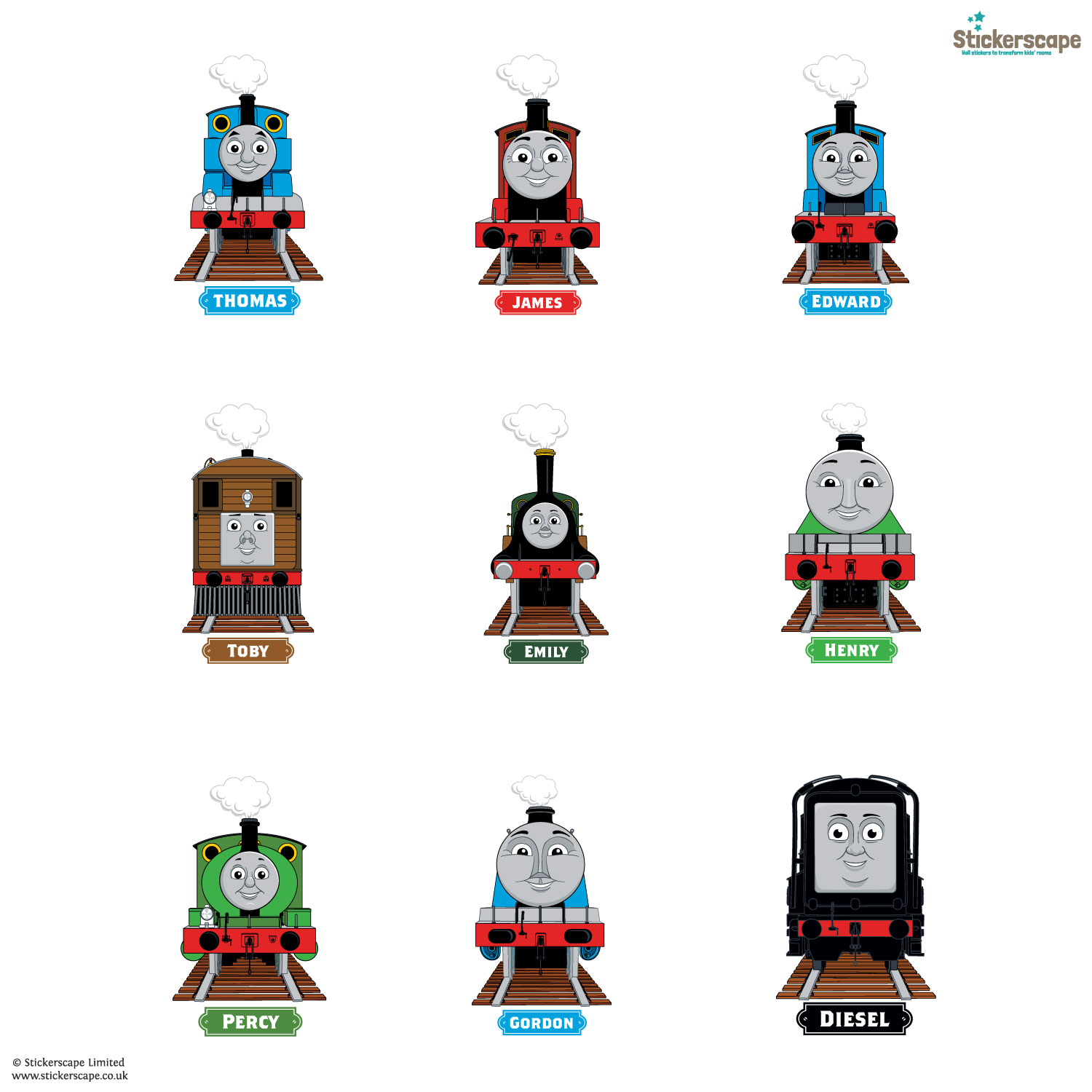 Thomas U0026 Friends Engines Wall Sticker