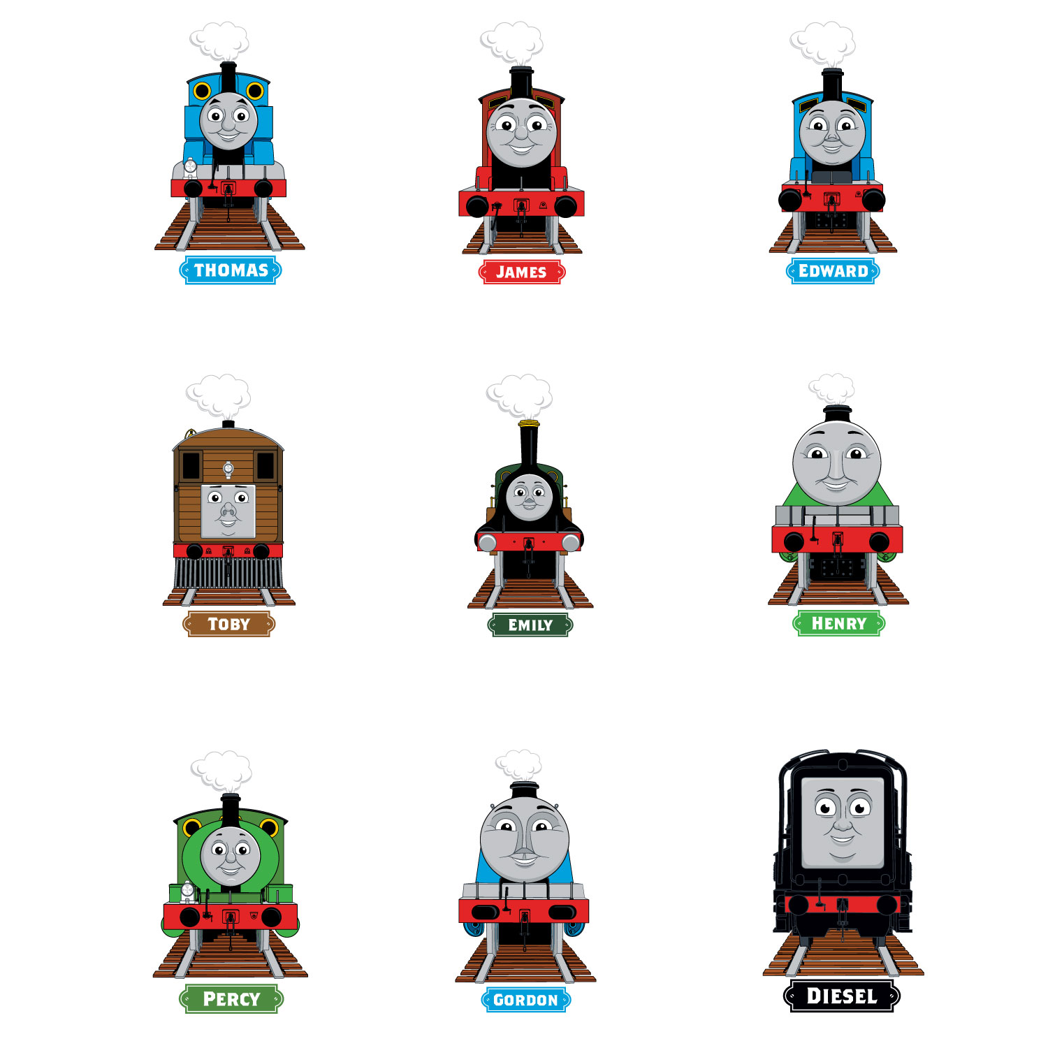 Chalkboard Stickers For Wall Thomas Amp Friends Engines Wall Sticker Stickerscape Uk