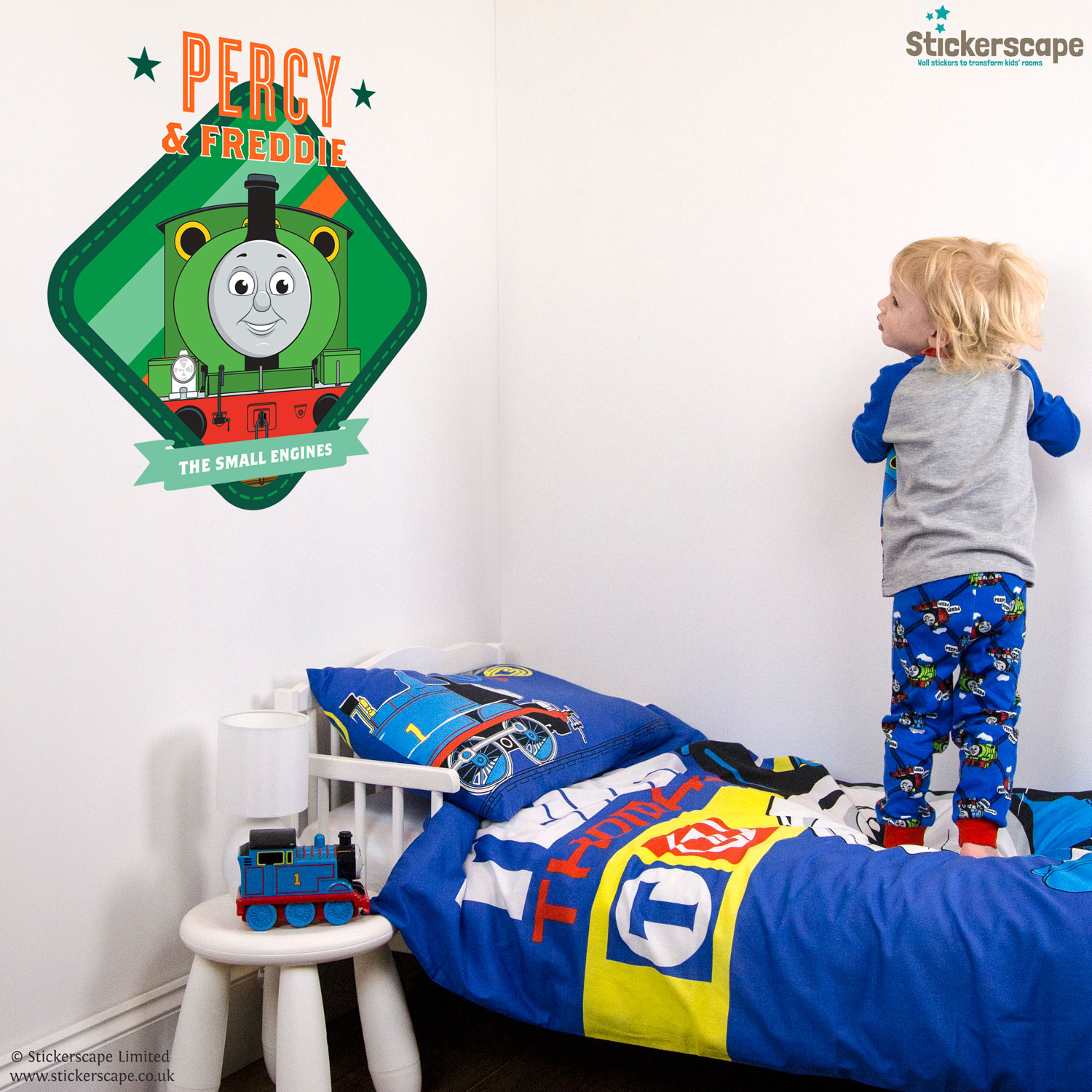 Personalised Percy Wall Sticker   Thomas The Tank Engine   Stickerscape   UK Part 74