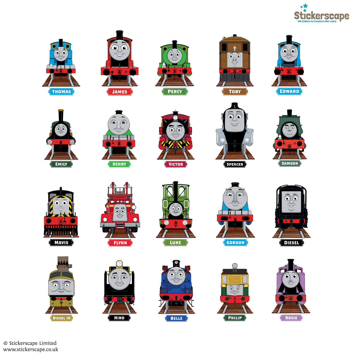 Thomas U0026 Friends Collectoru0027s Edition Wall Stickers Part 35