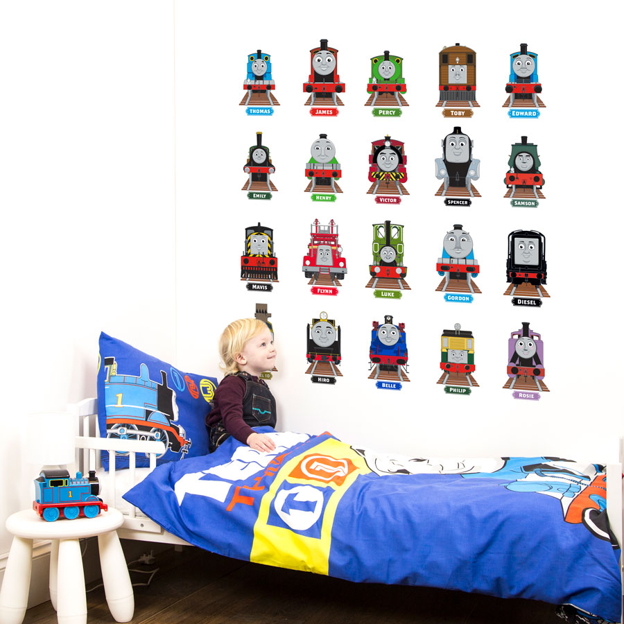 thomas friends collector 39 s edition wall stickers stickerscape uk. Black Bedroom Furniture Sets. Home Design Ideas