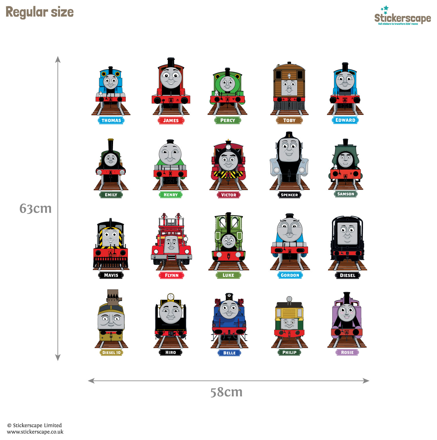 Thomas & Friends Collector s Edition wall stickers