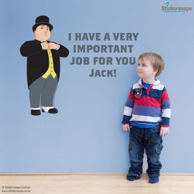 Personalised Sir Topham Hatt wall sticker | Thomas and Friends