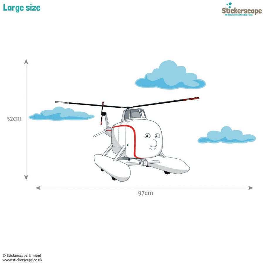 Harold the Helicopter wall sticker (Dimensions - large) | Thomas the Tank Engine | Stickerscape | UK