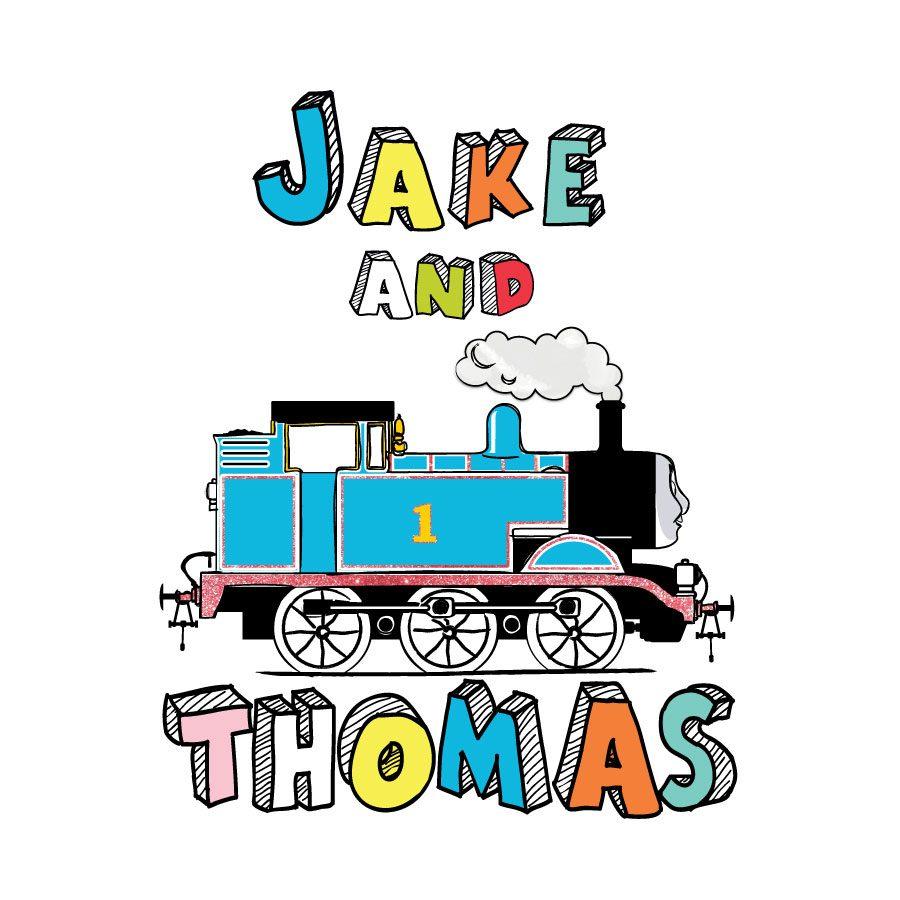 Personalised Cartoon Thomas wall sticker | Thomas the Tank engine wall stickers | Stickerscape | UK