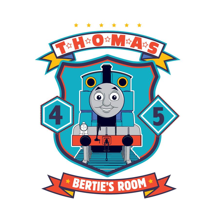 Personalised Thomas badge wall sticker Thomas & Friends