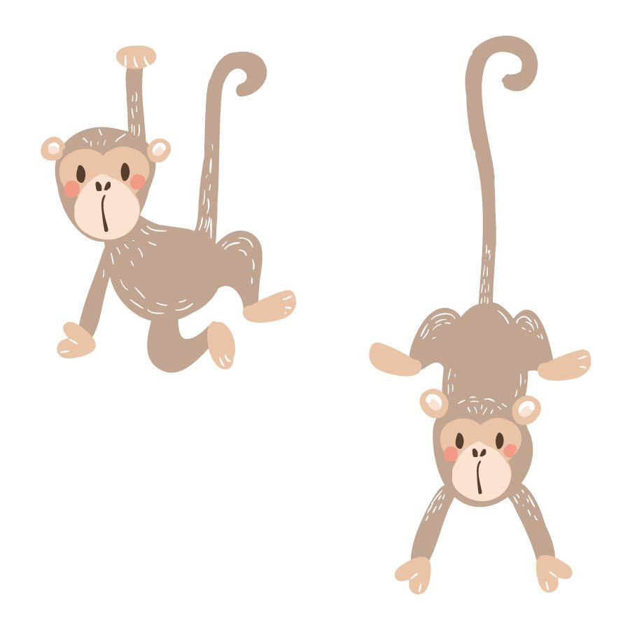Monkey wall stickers | Pirate wall stickers | Stickerscape | UK