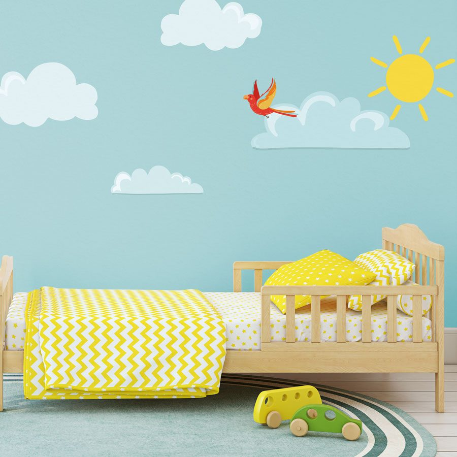 Sun and clouds wall stickers | Pirate wall stickers | Stickerscape | UK