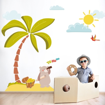 Treasure Island mega wall sticker pack | Pirate wall stickers | Stickerscape | UK
