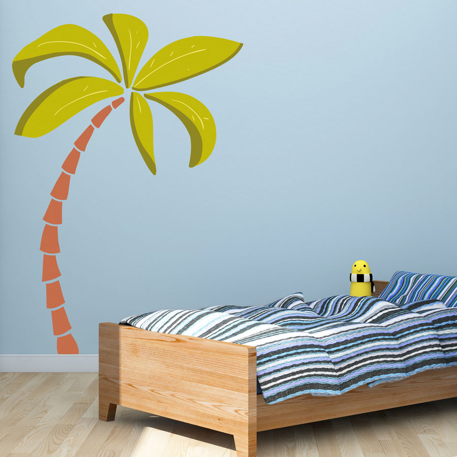 Palm tree wall sticker pirate wall stickers stickerscape uk