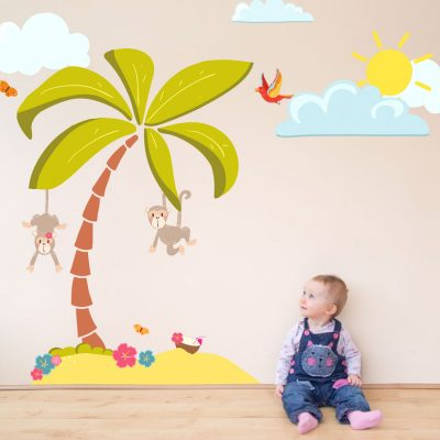 Tropical makeover wall sticker pack | Pirate wall stickers | Stickerscape | UK