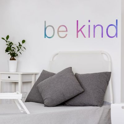 Be kind quote wall sticker part of our feel good wall sticker collection perfect for decorating a childs room with a positive message
