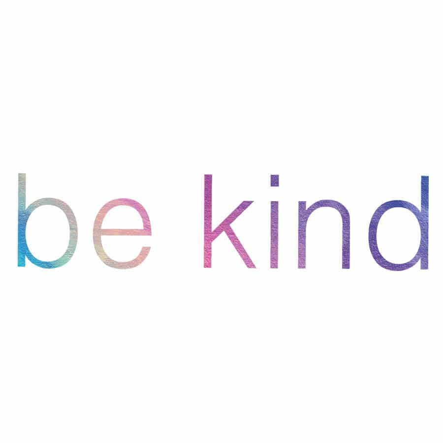 Be kind quote wall sticker on a white background