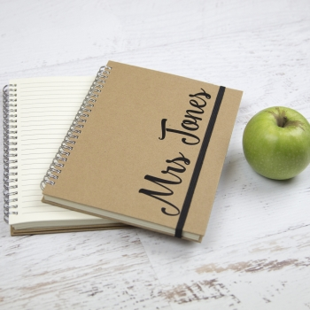 Personalised notebook | Personalised gifts | Stickerscape | UK