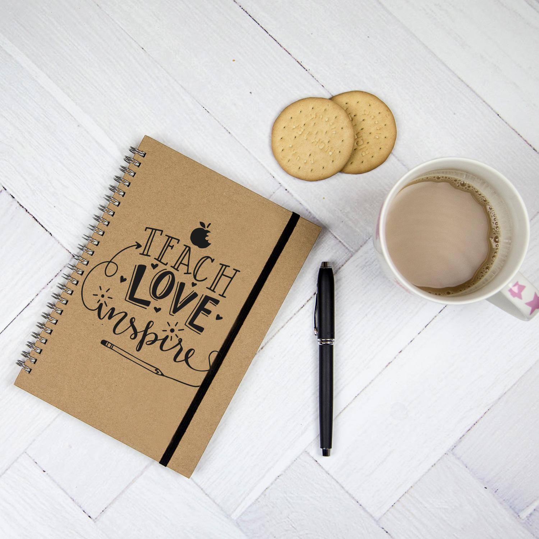 Teacher Notebook - Teach, Love Inspire - a perfect gift for a teacher