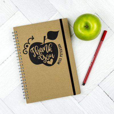 Personalised teacher gift - thank you notebook