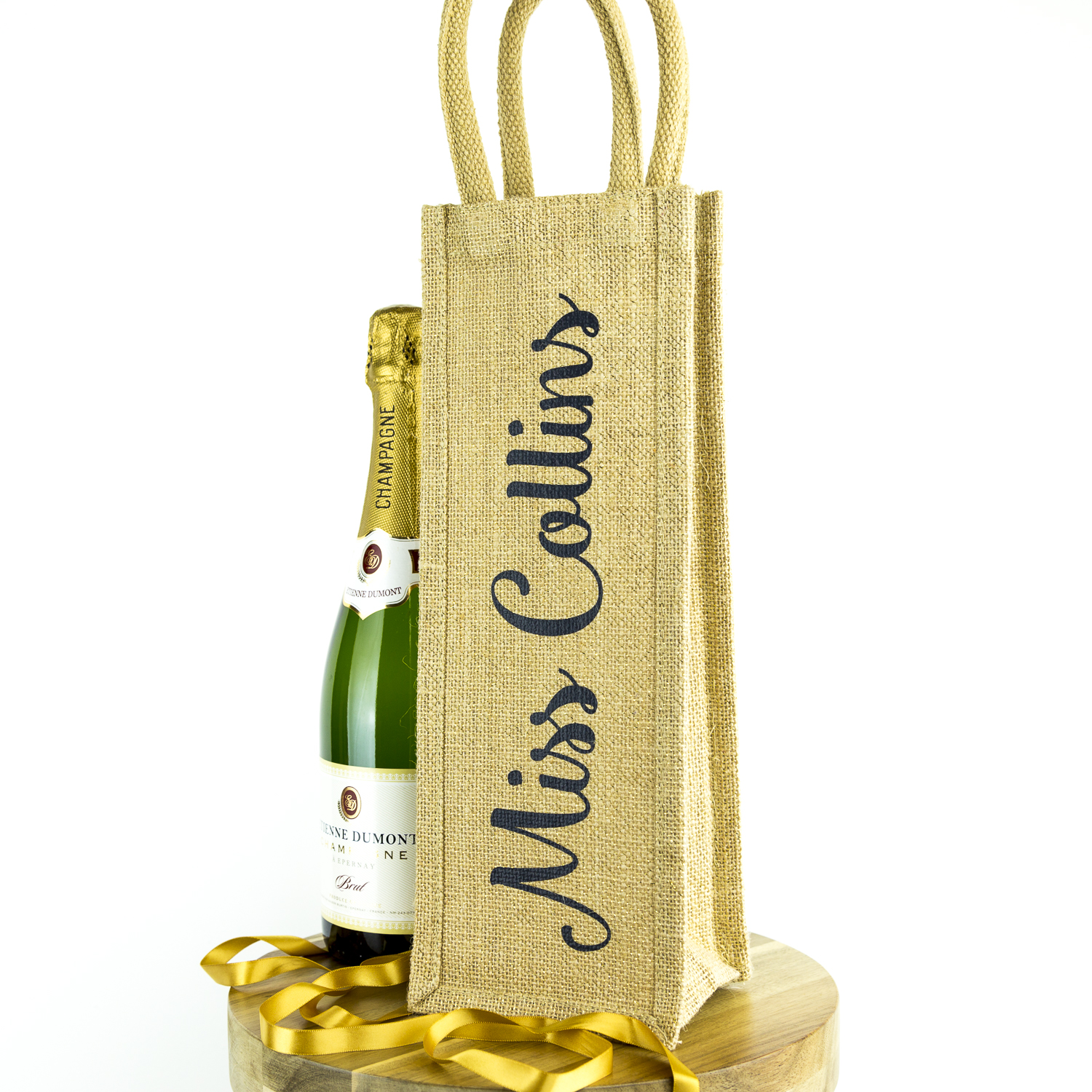 Personalised bottle bag with shimmer - Anthracite