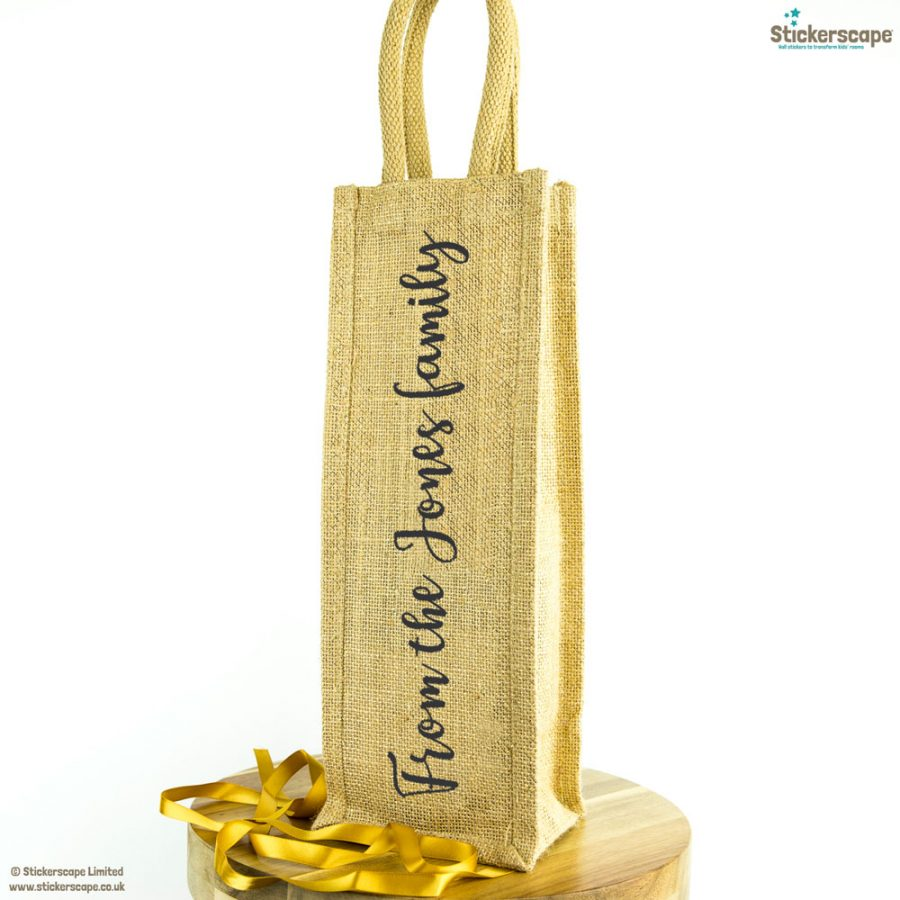 Personalised family bottle bag (Anthracite) | Bottle bags | Stickerscape | UK