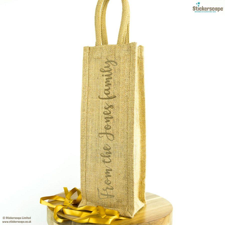 Personalised family bottle bag (Gold) | Bottle bags | Stickerscape | UK