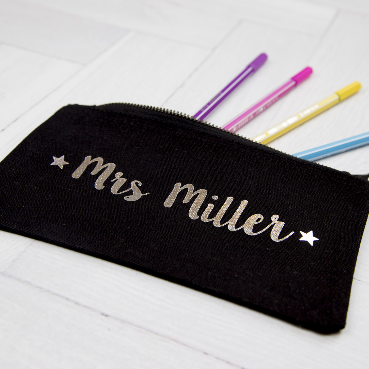 personalised pencil case personalised teacher gift stickerscape uk