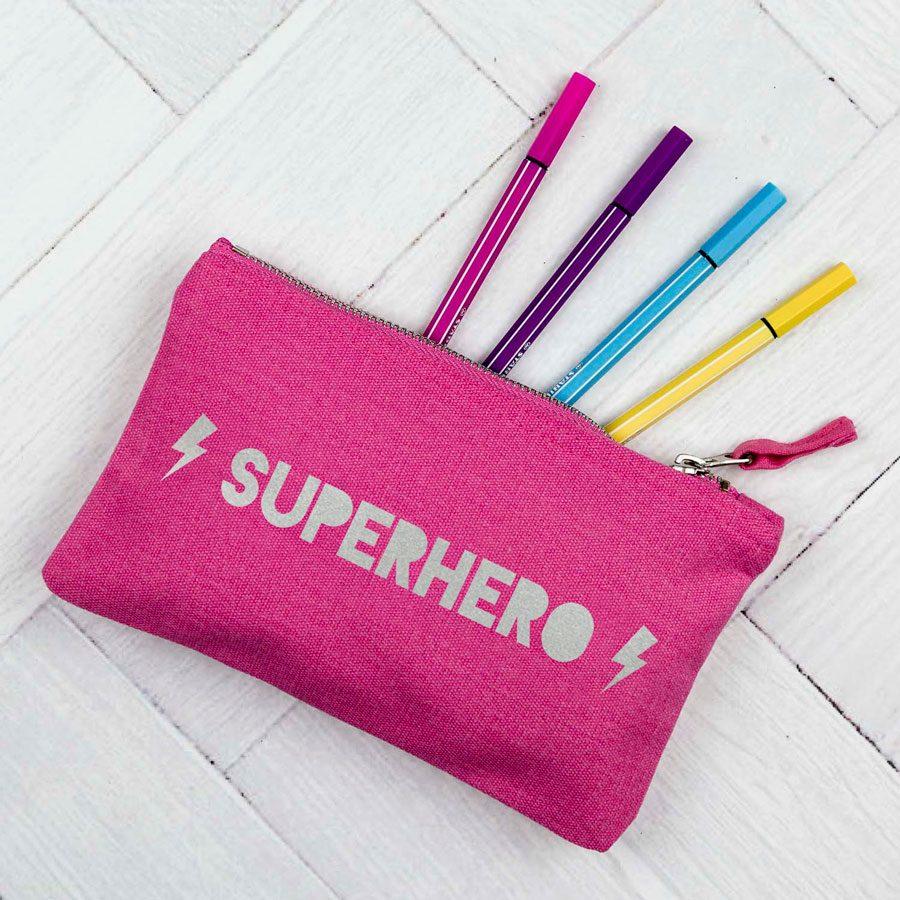 Superhero pencil case | Gifts for children | Stickerscape | UK