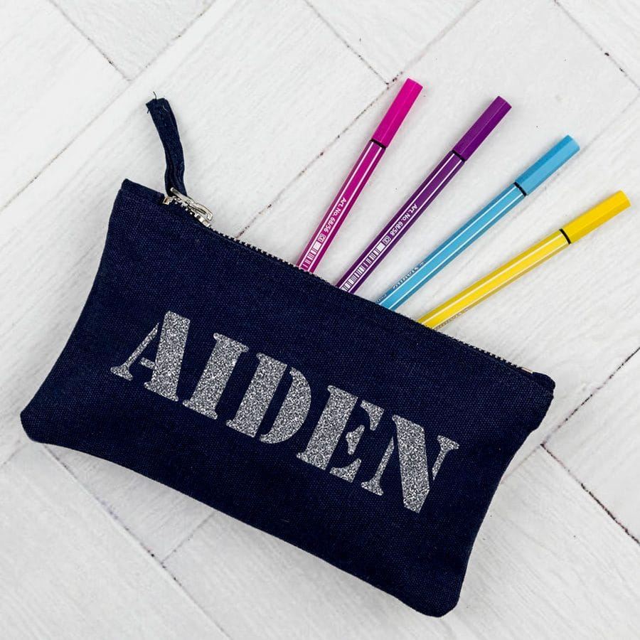 Personalised stencil pencil case | Personalised gifts | Stickerscape | UK