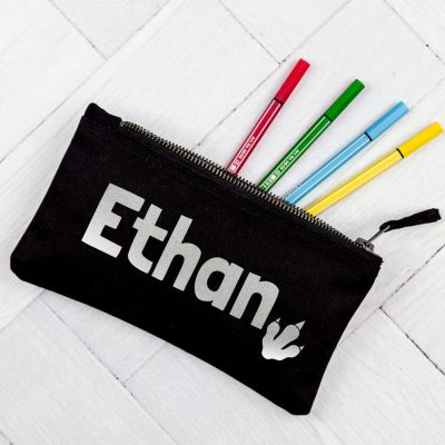 Personalised dinosaur pencil case | Personalised gifts | Stickerscape | UK