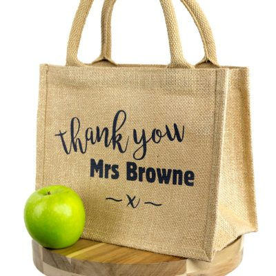 Personalised thank you gift bag