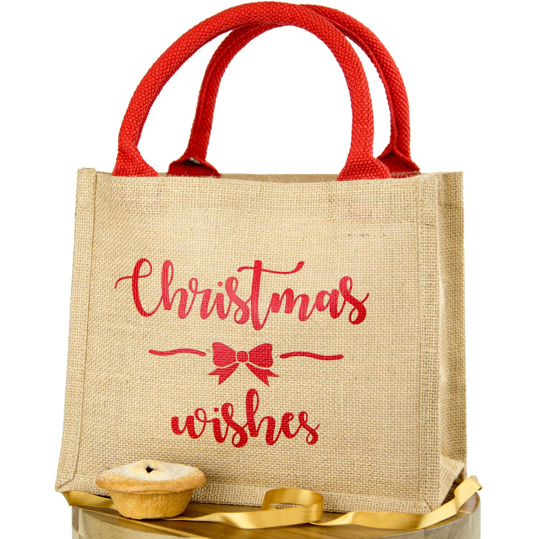 Chalkboard Stickers For Wall Christmas Wishes Jute Bag Christmas Gift Bag