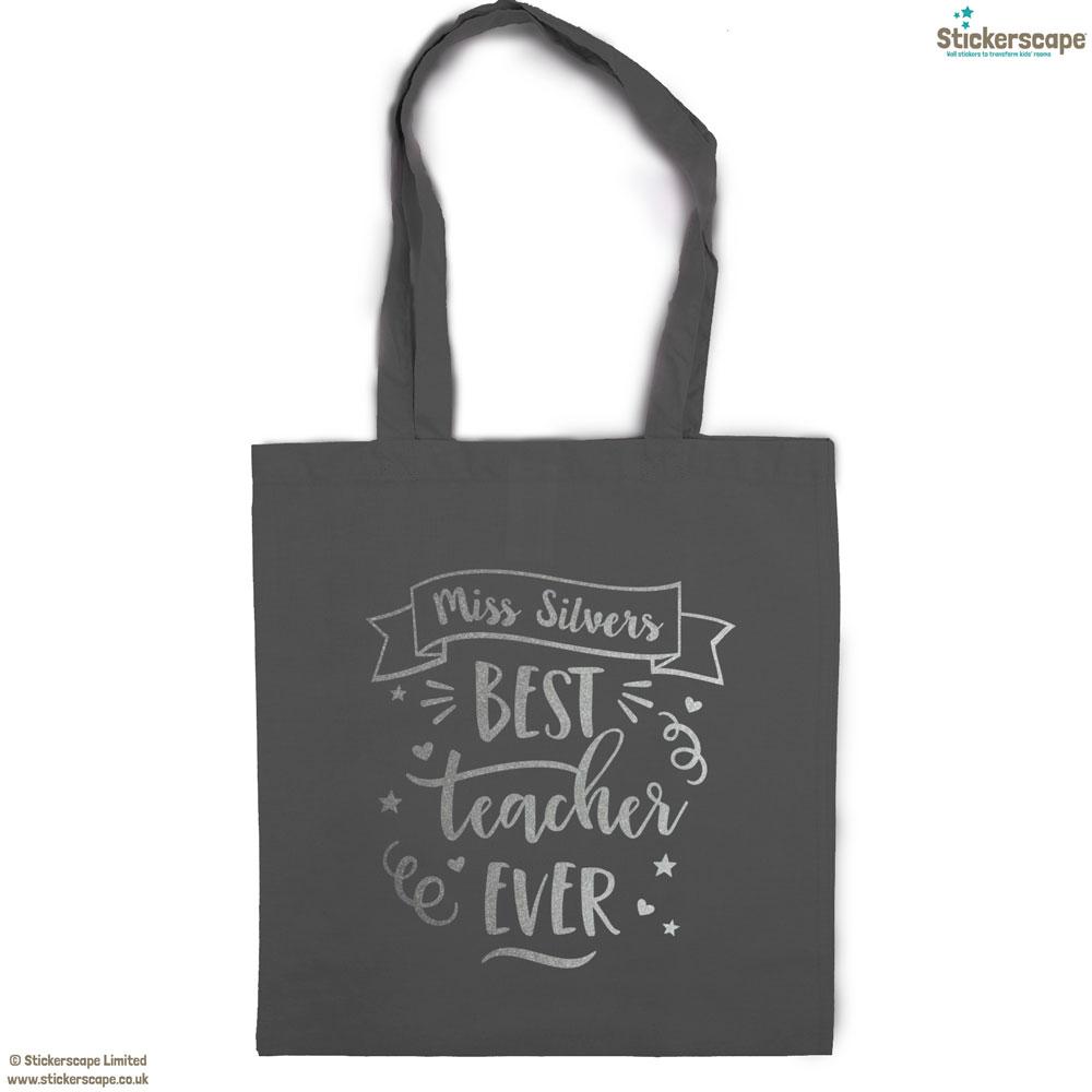 Personalied Best Teacher Tote Bag Teacher Gifts
