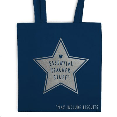 Essential teacher stuff tote bag   Teacher gifts   Stickerscape   UK